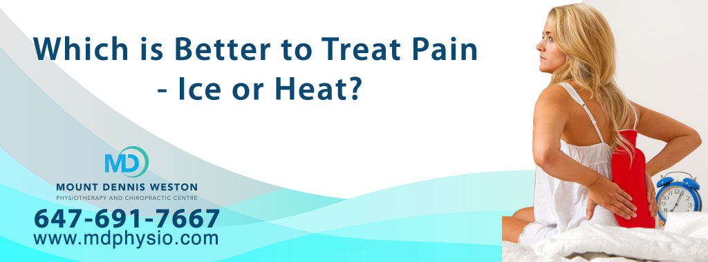 Ice Heat Pain Physiotherapy Chiropractic Mount Dennis Weston Toronto